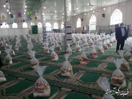 توزیع 300 بسته مواد غذایی در ماه مبارک رمضان در آزادشهر