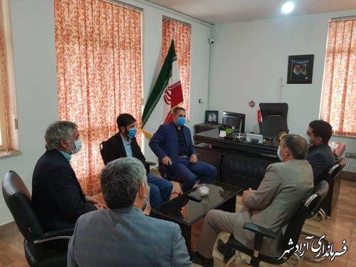 بازدید فرماندار آزادشهر از اتحادیه خبازان شهرستان