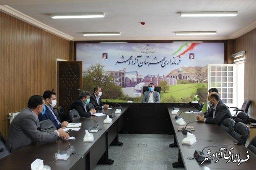 جلسه ستاد تنظیم بازار شهرستان آزادشهر برگزار شد