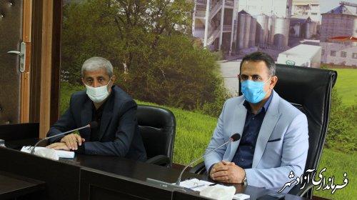 جلسه شورای هماهنگی بانک های شهرستان آزادشهر برگزارشد