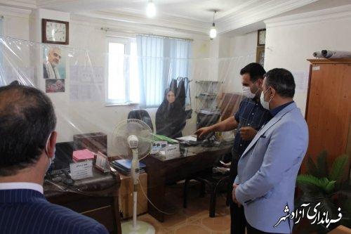 فرماندار آزادشهر از اتاق اصناف این شهرستان بازدید نمود