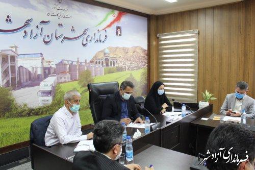 جلسه شورای هماهنگی مدیریت بحران، جهت بررسی خسارات سیل در آزادشهر برگزار شد