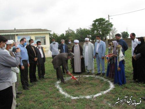 کلنگ زنی مدرسه 9 کلاسه روستای قورچای آزادشهر
