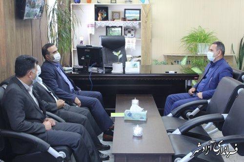 رئیس جدید بانک توسعه و تعاون آزادشهر معارفه شد