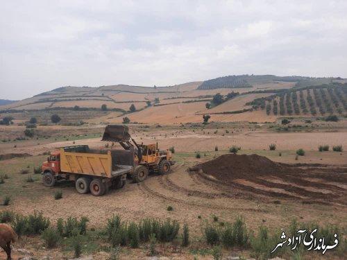 فرماندار آزادشهر از سازه کنترل سیل و رسوب حوزه کوهمیان بازدید کرد