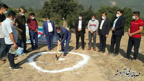 کلنگ یازدهمین اقامتگاه بوم گردی شهرستان آزادشهر در روستای وطن زده شد