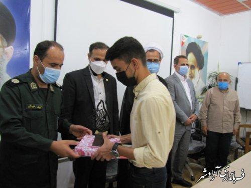 تجلیل از برترینهای کشوری بیست و نهمین اجلاسیه سراسری نماز در شهرستان آزادشهر
