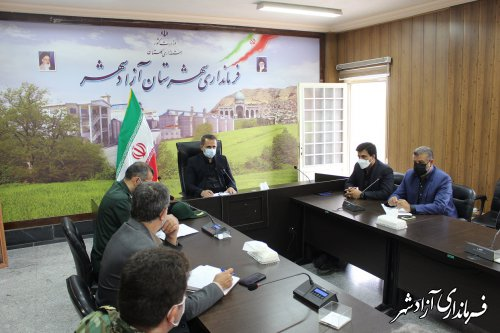 جلسه شورای هماهنگی مدیریت بحران شهرستان آزادشهر برگزار شد