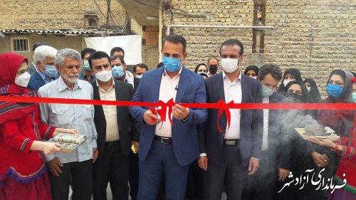 اولین خانه صنایع دستی مینای سفال در شهرستان آزادشهر افتتاح شد