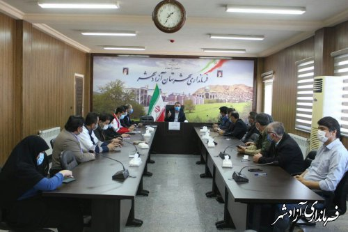 مانور دورمیزی لحظه صفر و سیلاب شهرستان آزادشهر برگزار شد
