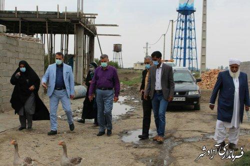 بازدید فرماندار آزادشهر از روستاهای بخش مرکزی این شهرستان