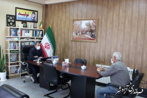 ملاقات عمومی فرماندار با مردم شهرستان آزادشهر برگزار شد
