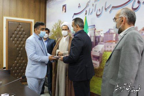 مراسم تودیع و معارفه شهردار آزادشهر برگزار شد